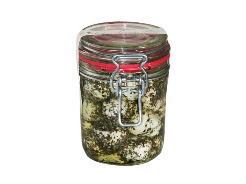 Garabonciás kecske krémsajt golyó - Bazsalikomos, üvegben
