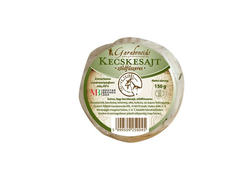 Garabonciás lágy kecskesajt - Fűszeres 150g